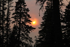 The air was definitely dirtier in the late afternoon (rozoneill) Tags: lassen volcanic national park california lost creek campground manzanita lake sunset