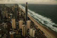 'top of the coast' (bethanierobyn) Tags: gold coast australia beach aerial canon landscape birdseyeview green white