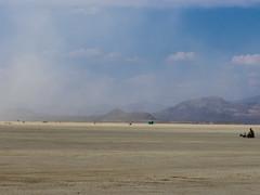 Personal quest deterred by dust storm? (kate beale) Tags: burningman brc 2018 city blackrockcity blackrockdesert nevada desert highdesert brc2018 dust duststorm