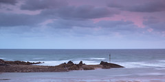 Dusk at Summerleaze Beach, Bude (S.R.Murphy) Tags: august2018 bude cornwall summerleazebeach sea water ocean beach longexposure seascape coast coastallandscape colour england uk gb leefilters lee06ndgrad lightroomcc sky cloud clouds fujifilmxt2 fujifilmxf1855mm seaside bay sand landscape