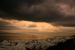 A Hard Rain Is Going To Fall (marylee.agnew) Tags: great lakes rain clouds nature water powerful dark storms