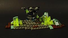 Curious Landscape: Crystals (MCLegoboy) Tags: lego moc myowncreation curious landscape vignette figure robot crystal surveyor
