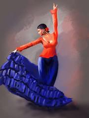 Flamenco in Red and Blue (Pat McDonald) Tags: andalucía albaicin andalus argentina artrage bailaora bailar bale ballerina ballet ballo beauty flamenco españa digitalart danse dans dance castanet buenosaires bsas gibraltar gitana guapa guapísima guitarist lalíneadelaconcepción italy mediterranean mediterraneanfleet mexico sailor royalnavy retrato porteña sevilla seville ship spain viviana