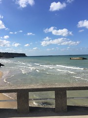 Sommertag / A Summers Day # 1 (schreibtnix on 'n off) Tags: reisen travelling frankreich france normandie arromanchelesbains strand beach himmel sky sommertag asummersday appleiphone6plus schreibtnix