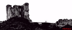 Scarborough Castle (red.richard) Tags: bw monochrome castle griity high key scarborough yorkshire
