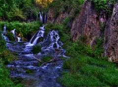 Waterfall (Tim @ Photovisions) Tags: southdakota waterfall water grass rock forest tree stream creek landscape river nature