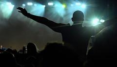 Your my wonderwall!! (John (Thank you for >2 million views)) Tags: bristoldowns durdhamdowns streetphotography nightphotography silhouette noelgallagherset lights starbursteffect bristol musicfestival