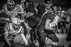 Three Games. One Night. (Phil Roeder) Tags: desmoines iowa desmoinespublicschools football sport athletics athletes blackandwhite monochrome canon6d canonef100400mmf4556lis northhighschool