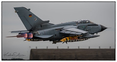 Panavia Tornado IDS, 46+23, Luftwaffe (German Air Force) border (1 of 1) (A380_sully) Tags: afterburner tornado gr4 luftwaffe take off military panavia airforce tiger