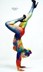 Art with art (jjsadrien) Tags: curvy curves boobs booty bodyart handstand posing beautiful sexy studio sonyalpha sonymirrorless sonya6500 sonya7riii sony bodypaintmodel bodypaintartist modeling model yogamodel yoga gymnastics nude art bodypaint