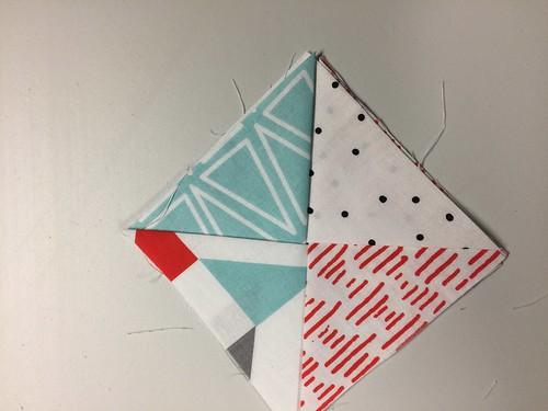 layering step 4 -  - fabric coasters