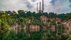 Hindhede Quarry (SamuelJz) Tags: quarry park nature reserve hindhede green lake rocks