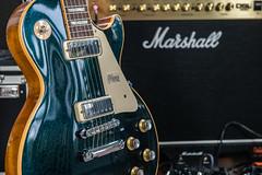 1975 Gibson Les Paul Custom Deluxe Reissue #19/75 (jeff's pixels) Tags: gibson lespaul guitar blue instrument custom deluxe 1975 marshall amp strings