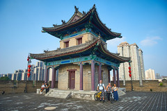 2018 Xi'an - On and Around the Old City Walls 70 (C & R Driver-Burgess) Tags: xian 西安 wall city towers ancient historical stone defense tourist pagoda tower northeast corner carolyn roger sally