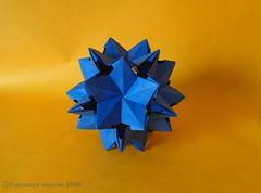 Starlette (mancinerie) Tags: origami modularorigami paperfolding papiroflexia papierfalten francescomancini mancinerie polyhedra icosahedron