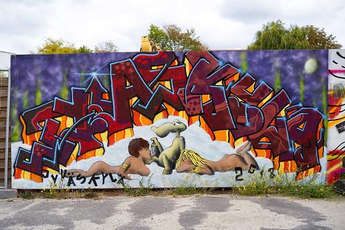 In Potsdam gibts aber auch Graffiti