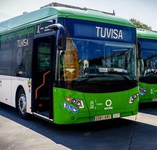 Vectia Veris de los autobuses urbanos de Vitoria, TUVISA.
