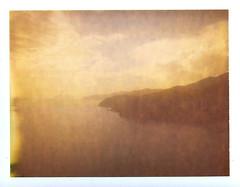 chestnut tides (www.matteovarsi.com) Tags: polaroid polaroid125i expiredfilm nature colours light cliff sea seashore clouds sky liguria 5terrepark
