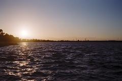 Sundown (OzGFK) Tags: ricoh35zf film analog iro200 filmneverdie fuji200 fujic200 urban streetphotography 35mm altona sunset dusk evening cherrylake water lake landscape