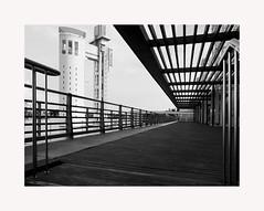 Sevilla (BLANCA GOMEZ) Tags: spain sevilla andalusia andalucia bw blackwhite shadows light architecture arquitectura navigationpavilion pabellondelanavegacion torremirador miradortower
