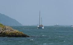 Boat In The Straits! ('cosmicgirl1960' NEW CANON CAMERA) Tags: gogledd cymry north wales anglesey ynysmon menaibridge blue green sky straits menai isle bridge yabbadabbadoo