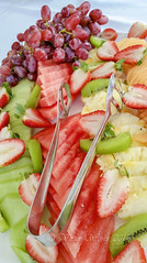 A variety of freshly prepared and arranged fruits (Victor Wong (sfe-co2)) Tags: appetizer arranged assorted berry breakfast calorie cantaloupe catering cocktail colorful concept delicious dessert diet dinner fiber food fresh freshness fruit grape green healthy honeydew juicy kiwifruit lunch mix nutrition organic plate prepared raspberry raw red refreshment ripe rockmelon salad sliced strawberry summer sweet tong tropical variety vegetarian vitamin watermelon yellow