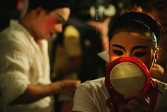 鏡 Mirror Mirror (Chez C.) Tags: chineseopera 戲班 performance backstage culture chineseculture hongkong 香港 盂蘭節 神功戲 演員 performers artists
