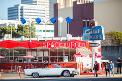 Space Burger (Thomas Hawk) Tags: america california eastbay giantburger lincoln lincolncontinental oakland spaceburger usa unitedstates unitedstatesofamerica neon restaurant fav10 fav25 fav50 fav100