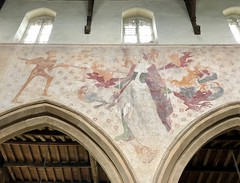 Wall painting, St Peter's Church, Raunds (♔ Georgie R) Tags: stpeterschurch raunds northamptonshire wallpainting sevendeadlysins