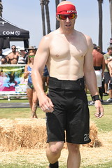 Rogue Man Returning (Chris Hunkeler) Tags: manmalealthleteshirtless macho sincamisa shaved chest white male weightbelt fit lean bare