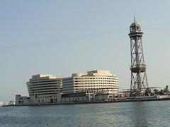 World Trade Center Barcelona + Hotel Eurostars Grand Marina (michael_s_pictures) Tags: hoteleurostarsgrandmarina worldtradecenter barcelona wtc cablecar funicular seilbah kabelbaan