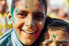 Boys With Gulal on Faces, Vrindavan India (AdamCohn) Tags: abeer adamcohn hindu india vrindavan gulal holi pilgrim pilgrimage pilgrims अबीर गुलाल होली