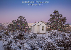 Guy Hill School House Christmas Eve Morn (Bridget Calip - Alluring Images) Tags: 1876 2017 alluringimagescolorado beltofvenus bridgetcalip clearcreek colorado goldengatecanyon guyhillschoolhouse jeffersoncounty winter christmaslights dawn fog freshsnow frostytrees morning oneroomschoolhouse radiationcooling