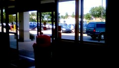 Supermarket entrance! (Maenette1) Tags: supermarket entrance windows parkinglot jacksfreshmarket menominee uppermichigan happywindowswednesday flicker365 allthingsmichigan absolutemichigan projectmichigan