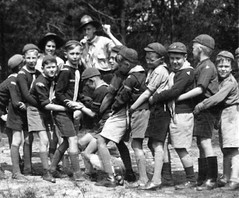 Cubs at play (theirhistory) Tags: children kid boy trousers jumper shoes wellies cap shorts rubberboots leader