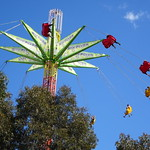 Adelaide. The Royal Adelaide Show. Gravity defying ride in side show alley. thumbnail