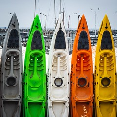 Kayaks Faces (CDay DaytimeStudios w/1,000,000 views) Tags: beach bicycle boats ca california clouds coastline halfmoonbayca highway1 kayaks morningovercast ocean pacificcoast pacificcoasthighway pillarpoint pillarpointharbor water wharf yachts