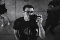 Cloud Gate Reflections (Photographer X™) Tags: selfie sony a7ii samyang 35mm f28 rodzilla prime lens chicago illinois cloud gate bean sculpture art piece photographerx black white grayscale bw reflection self