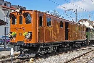 RhB Ge 4/4 no 81 at Blonay