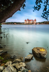 Autumn is coming (mad_airbrush) Tags: 5d 5dmarkiii 2470mm 2470mmf28lusm landscape landschaft langzeitbelichtung longexposure hdr stackedfilters stacked filter nd ndfilter saxony sachsen germany deutschland moritzburg schlossmoritzburg schloss castle castlespalacesmanorhousesstatelyhomescottages water smoothwater leaf autumn herbst