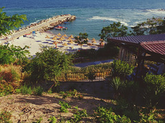 Nessebar (vereiasz) Tags: nessebar summer vacation bulgaria blacksea phone samsunggalaxys9 beachumbrella nesebar nesebur burgas несебър