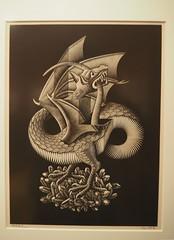 Dragon; M. C. Escher; 1952 (M_Strasser) Tags: escher mcescher olympus olympusomdem1 holland netherlands
