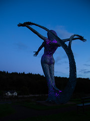 365 Challenge - Day 264 (Mr_Souter) Tags: aria scotland statue purple 365challenge yearofpictures day264 epg365 places night europe uk cumbernauld