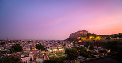 Pink over Blue (ajecaldwell11) Tags: ankh buildings caldwell castle clouds fort fujifilm india jodhpur light lights purple sunset xe3