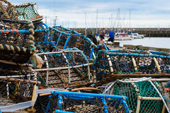 Good catch (Stickyemu) Tags: seaside docks harbour port fishing crab crabpot sea ocean scarborough northyorkshire bokeh boat blue net nikond500 nikon1755mm28dx
