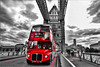 Just for you london (Paul Wrights Reserved) Tags: routemaster towerbridge london londonbus londonstreets bus bridge sky skyscape drama dramatic red selectivecolour leadinglines people clouds clous cloudscape road traffic vehichle