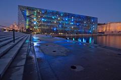 Blue hour (alex notag) Tags: mucem bluehour blue marseille light cityscape