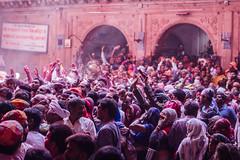 Surging Holi Crowd Shri Banke Bihari Mandir, Vrindavan India (AdamCohn) Tags: abeer adamcohn bankebiharimandir hindu india shribankeybiharimandir vrindavan gulal holi pilgrim pilgrimage अबीर गुलाल होली