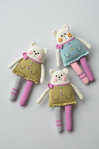 Crochet Amigurumi Cat Free Patterns | Häkelanleitung kostenlos ... | 499x333