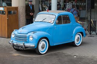A blue Fiat